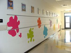 Make wall splats (or other designs) out of colored contact paper.