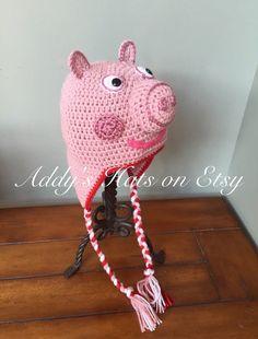 Peppa Pig inspiriert Hat Sie wählen Größe von AddysHats auf Etsy