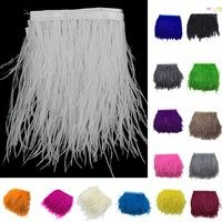 Ostrich Dyed Feather Fringe Trim 1 Yard for DIY Costume Hat Sewing Craft Decor