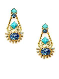 Blue Chandelier Drop Earrings