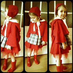 My daughter in her little red riding hood costume. www.etsy.com/shop/Avalondesigns  #handmade #etsy #fairytale #fantasy #dressup #sprookje
