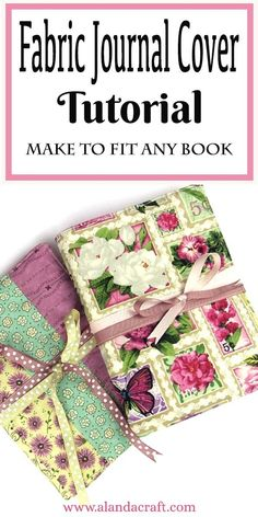 Sewing For Beginners Projects Make these cute journal covers from your scrap stash. Our tutorial shows you how easy it is to make a journal cover. Easy Sewing Projects, Sewing Hacks, Sewing Tutorials, Sewing Crafts, Sewing Patterns, Bag Patterns, Handmade Notebook, Handmade Books, Handmade Purses