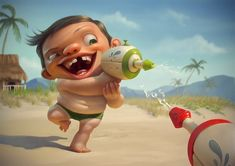 Meet The Art of Tiago Hoisel, a Brazilian Concept Artist based in Sao Paulo. Caricatures, Character Art, Character Design, Character Ideas, Digital Portrait, Digital Art, Art Station, Art Graphique, Character Illustration