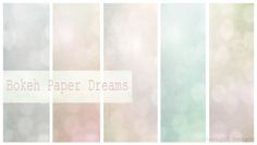 Free Texture Grab Bokeh Paper Dreams from insightdesigns.co.uk