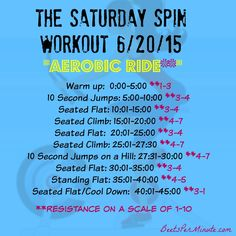 A fun aerobic indoor cycling routine -- see blog post for Spotify playlist!