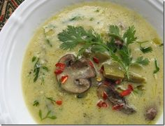 Roasted Tomatillo Soup with Noalitos & Mushrooms - Vegan