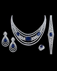 Four piece diamonds and blue sapphire necklace set ready to adore you for that special occasion 😍😍😍💎💎💎❤️❤️ . For order inquiries on loose… Real Diamond Necklace, Blue Sapphire Necklace, Black Diamond Earrings, Sapphire Jewelry, Diamond Pendant Necklace, Sapphire Diamond, Modern Jewelry, Sterling Silver Earrings, Jewelry Sets