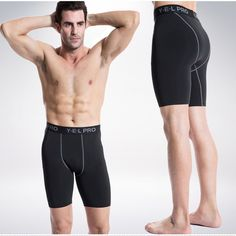 5a5fecbdf0 Yuerlian Hot Sale Quick Dry Gym Sport Leggings Crossfit Men's Shorts Soccer  Undercover Jogging Compression Tights Running Shorts-in Running Shorts from  ...