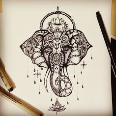 "98 Likes, 10 Comments - @darksnowdrop on Instagram: ""#tat#tats#tattoo#tattoosketch#tattooinspiration#tattoodesign#elephanttattoo#elephant#spiritual#spirirualtattoo#animaltattoo#art#sketch#design"""