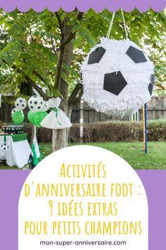 Fais des heureux en organisant des activités d'anniversaire sur le foot : échauffement fun, matchs originaux, jeux calmes, travaux manuels, Organiser, Fun, Cool Ideas, Crafts, Hilarious