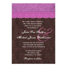 ShoppingPurple and Chocolate Damask Wedding Custom Announcementtoday price drop and special promotion. Get The best buy Discount Wedding Invitations, Custom Wedding Invitations, Damask Wedding, Your Turn, Special Day, Proposal, Cool Things To Buy, Groom, Marriage