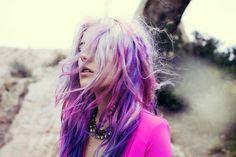 ombre purple hair hair-makeup-and-nails Purple Hair, Ombre Hair, Purple Ombre, Violet Hair, Pastel Purple, Lilac, Lavender, Tie Dye Hair, Color Fantasia