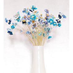 s de florzinhas)  Arranjo Floral - Estampa e Tons de Azul (100 unidades de florzinhas)  Disponível: Em estoque    R$75,00