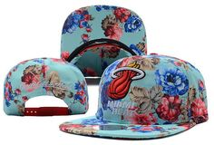 Flower Miami Heat NBA Mitchell And Ness x Snapback Hats 443 8802|only US$8.90