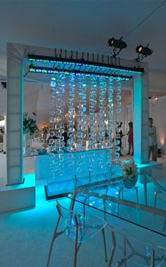 Ice curtains are so pretty! Just think with some beautiful lighting one of these would be gorgeous! ~BizBash