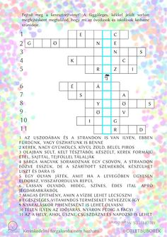 Nyomtatható nyári keresztrejtvény gyerekeknek Diy For Kids, Crafts For Kids, Hidden Pictures, Play To Learn, Special Needs, Kids Education, Kids Learning, Infographic, Language