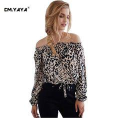 3e12b0aaae5 Blouse Women Tops Long Sleeve Women Shirt Eliacher Brand Plus Size Casual  Women Clothing Lady Leopard Print Blouses Blusas