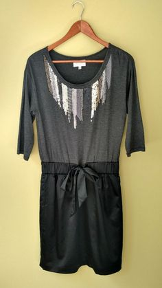 Jodi Arnold Limited Sequin Embellished Knit Satin Dress Tie Waist Sz Small EUC | Clothing, Shoes & Accessories, Women's Clothing, Dresses | eBay!