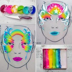Image result for face painting butterfly