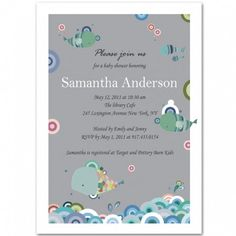 under the sea neutral baby shower invitation bs048