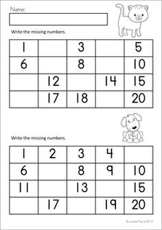 MEGA Math & Literacy Worksheets & Activities - Down on the