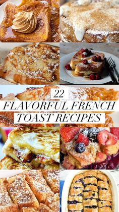 22 Flavorful French Toast Recipes - Captain Decor French toast is one of my favorite breakfast foods. Usually I just take mine with a bit of maple syrup, but after seeing these recipes I'm going to have to change that! Creme Brulee French Toast, Eggnog French Toast, Brioche French Toast, Best French Toast, Banana French Toast, Pumpkin French Toast, Cinnamon French Toast, Oven Baked French Toast, Baked French Toast Casserole