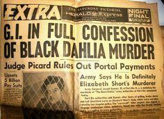 EXTRA newspaper Black Dahlia