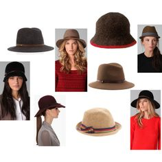 For the Hat Obsessed., created by meredithsinclair.polyvore.com