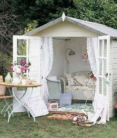 http://www.msn.com/en-us/lifestyle/home-and-garden/she-sheds-wed-love-to-have  This house is so cute, the kids may be tempted to use it as the setting for their newest make-believ... - Mom.me