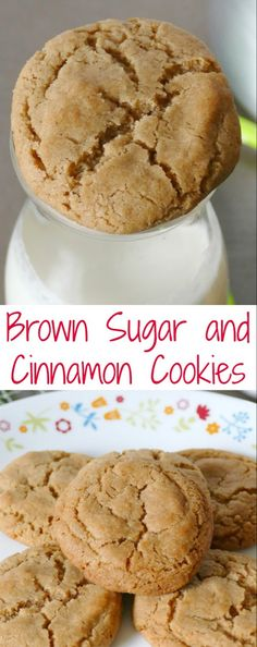 Brown Sugar and Cinnamon Cookies Easy to make and delicious too! Perfect for any cinnamon lover! Make for your next Christmas cookie exchange, fall party, or game day party! Great for lunches and after school snacks too! - Brown Sugar and Cinnamon Cookies Brown Sugar Cookie Recipe, Chocolate Cookie Recipes, Easy Cookie Recipes, Sugar Cookies Recipe, Yummy Cookies, Baking Recipes, Cookie Recipes With Little Flour, Simple Sweets Recipes, Egg Less Cookies