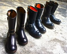 buco horsehide engineer boots.