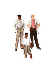 Kwik Sew 2820 Men's Convertible Pants, Uncut, Factory Folded Sewing Pattern Multi Size S-XXL Craft Patterns, Sewing Patterns, Kwik Sew, Pants Pattern, Casual Wear, Convertible, Buy And Sell, Knitting, Stuff To Buy