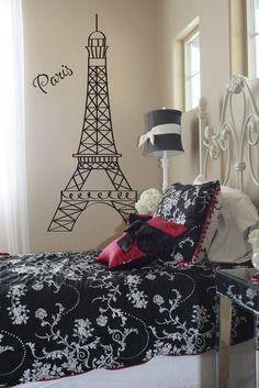 Eiffel Tower Small by ChickadeesVinyl on Etsy, $29.99