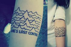 """This is my first tattoo. Inspired by Joy Division's """"Unknown Pleasures"""".  Done by Felipe Metano Fam at Jokers Tattoo, a brazilian studio in Curitiba, PR."""