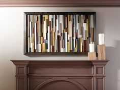 Use scrap wood to make a dimensional piece of art! It's the perfect welcome to any entrance.