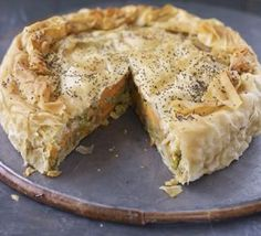 Indian potato pie - another delicious and healthy vegetarian recipe. Serves AT LEAST 6 - we cooked it for friends at the week-end and will be eating the leftovers for the rest of the week!