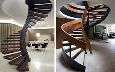 | Ideas para decorar con escaleras de caracol originales