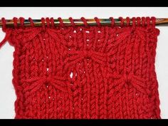 How to Knit * Little Bows stitch * Knitting stitch