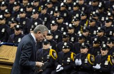 Mayor Bill de Blasio is a joke with at least 30,000 enemies in the NYPD who turn their backs when ever he shows his face. He ran on cop--hating & race-baiting and is city is now hell on earth. He deserves all of the shunning he gets as well as the hatred of the citizens of New York. BTW: His real last name: Wilhelm. So he's a fraud in that regard, as well.