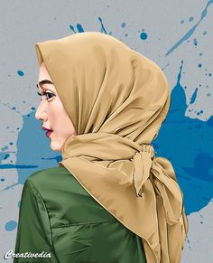 Cartoon Pics, Cute Cartoon Wallpapers, Girl Cartoon, Cartoon Art, Cartoon Picture, Crown Illustration, Muslim Couple Photography, Hijab Drawing, Crying Girl