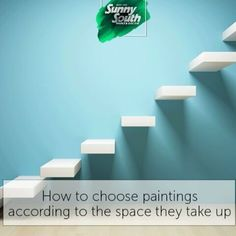 This is how you should place your paintings and works of art... Sunny South is your paint and decoration specialty store. Come visit us at 3202 and 3031 Coral Way; 2428, SW 8th St; 11865, SW 26th St; 16181 NW 57th Ave; 108 Weston Rd, Sunrise; 1101 S Federal Hwy, Pompano Beach.#SunnySouth #Miami #paintings #art #paint #decoration #store #blue