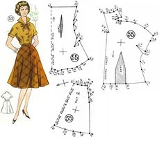 Blouse and Skirt Patterns. Dress Making Patterns, Vintage Dress Patterns, Barbie Patterns, Clothing Patterns, Skirt Patterns, Barbie Vintage, Couture Vintage, Sewing Clothes, Diy Clothes