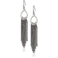 Lucky Brand Silver-Tone Chandelier Drop Earrings ($9.35) ❤ liked on Polyvore featuring jewelry, earrings, jewelry-earrings, chandelier earrings, silver tone jewelry, silver tone earrings, drop earrings e lucky brand jewelry