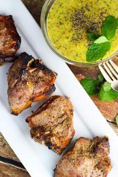 Lamb Chops with Mint Mustard Sauce