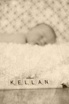 newborn name photo by sadie