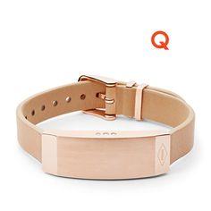 Q Dreamer Sand Leather Activity Tracker