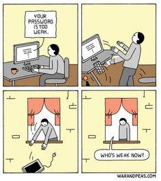 Weak passwords  #funny #funnyshit #meme #dankmemes #memesdaily   https://badgag.com/post/funny-comics/3gdUpX2/weak-passwords