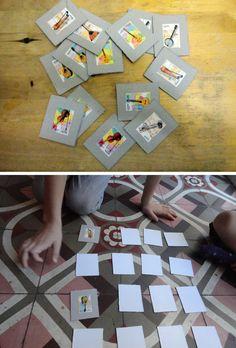 El hada de papel: memory game of stamps craft for kids