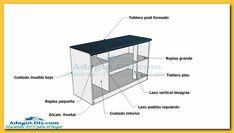 Como hacer muebles de cocina plano mueble bajo mesada de melamina-woodworking-plans   Adagui diy más bricolaje en tu hogar
