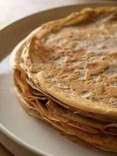 Crêpes à la farine de châtaigne Crepe Recipes, Dessert Recipes, Dairy Free Recipes, Gluten Free, Beignets, Crumpets, Vegan Vegetarian, Cooking, Ethnic Recipes